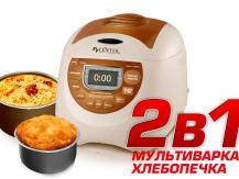 Multicookers uniques avec la fonction d'une machine à pain