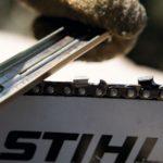 Comment affûter une chaîne de scie à chaîne avec un tournevis et une lime?
